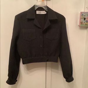 CHRISTIAN DIOR CROP TRUCKER JACKET
